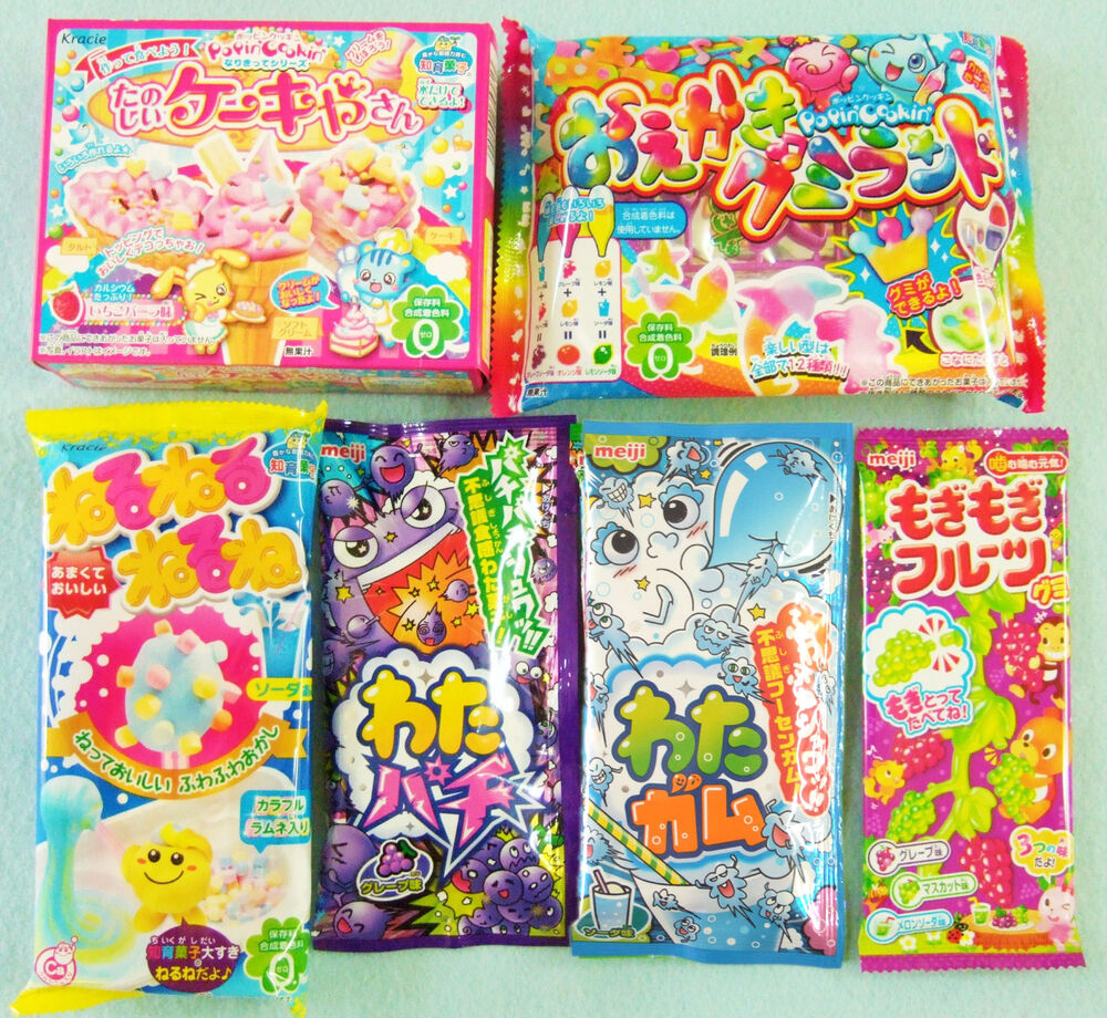 6 PCS SET / Kracie & Meiji DIY JAPANESE CANDY MAKING KIT ...
