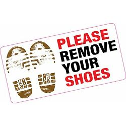 Please Remove Your Shoes Large Printed Vinyl Sticker Home Mosque Gym Pool