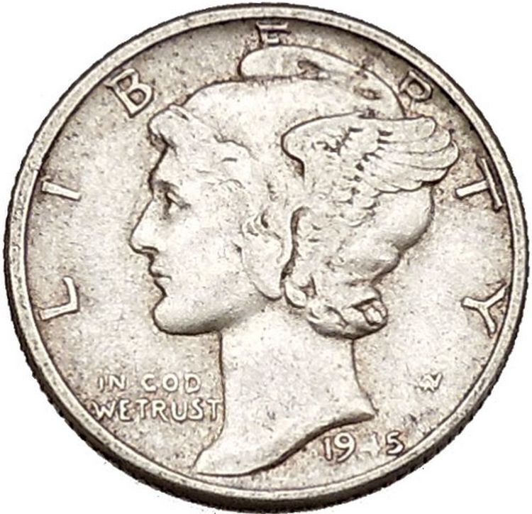 Mercury Winged Liberty Head 1945 Dime United States Silver Coin