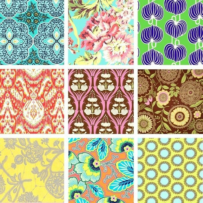 New amy butler designer quilting cotton fabric remnants for Fabric remnants