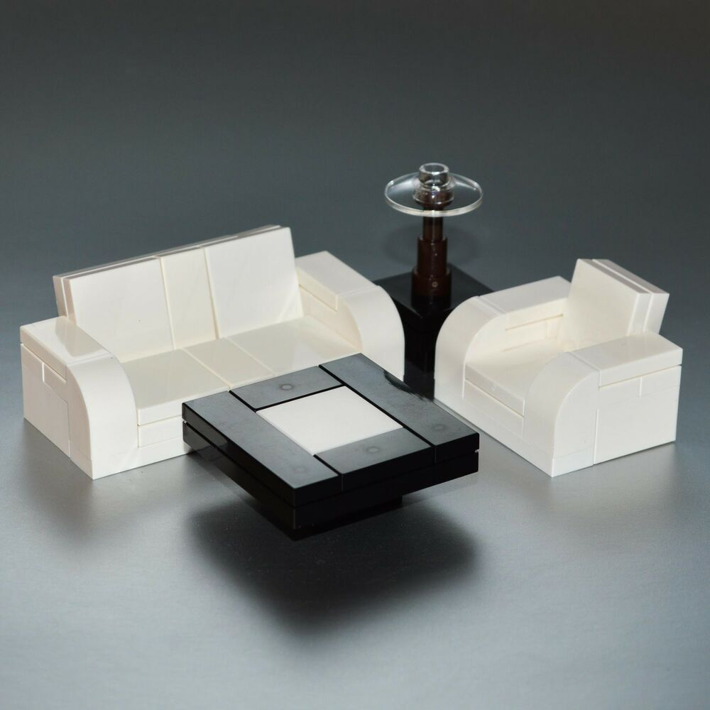 Lego furniture 4 piece seating set white w couch for Furniture 4 a lot less