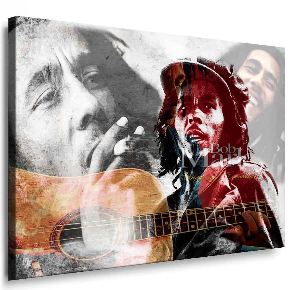 bild auf leinwand bob marley bilder mit keilrahmen kunstdruck kein poster ebay. Black Bedroom Furniture Sets. Home Design Ideas