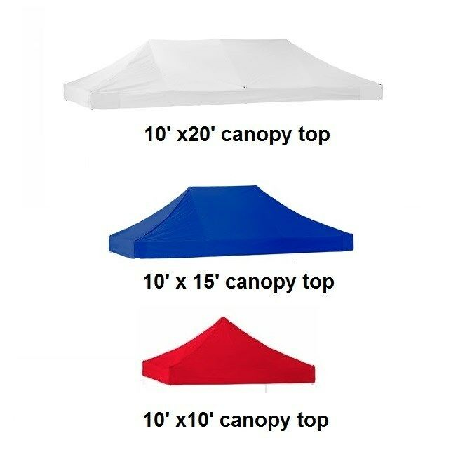 New Ez Pop Up Canopt Tent 10x10x15x20 Replacement Instant