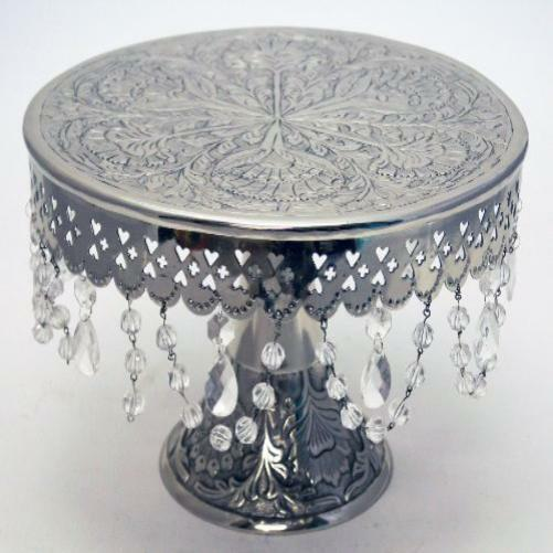 16 inch silver round wedding cake stand wedding cake stand pedestal silver finish 16 quot w 10058