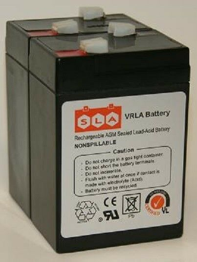 6 volt 4 5a battery apc ups alarm scooter bike 2 pack 6v 4 5 ah ebay. Black Bedroom Furniture Sets. Home Design Ideas