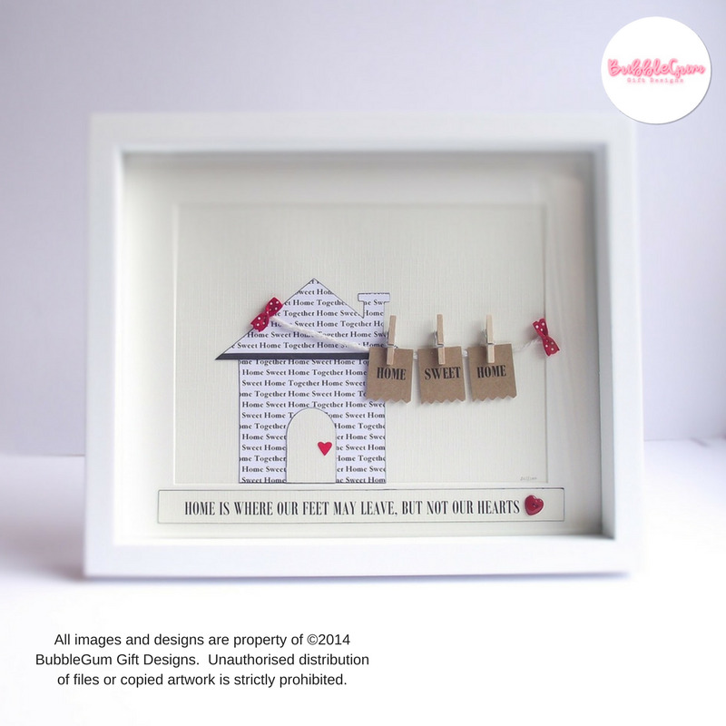 Personalised Home Is Where New Home Gift Print By: NEW HOME Housewarming Gift Sweet House Present