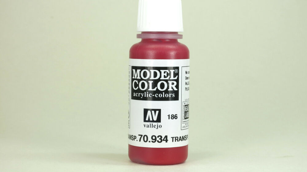 Transparent Red Acrylic Paint
