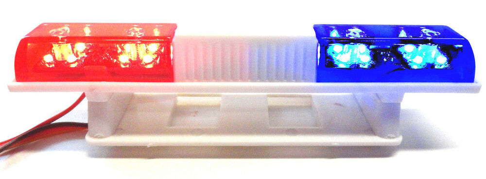 Apex RC Products 1 10 LED Police Light Bar W 5 Selectable Flashing Modes 901
