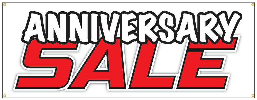 Anniversary sale banner celebration store wide event sign