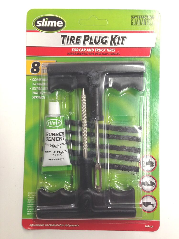 Slime 1034 A Tire Plug Kit For Car Amp Truck Tires 8 Piece