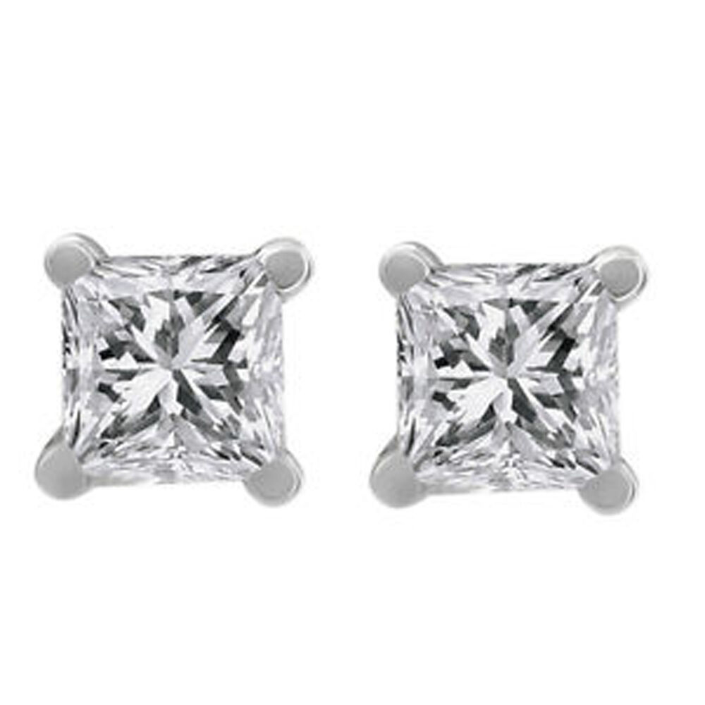 1 ct princess cut earrings 42ct princess cut stud earrings g vvs2 clarity 9982