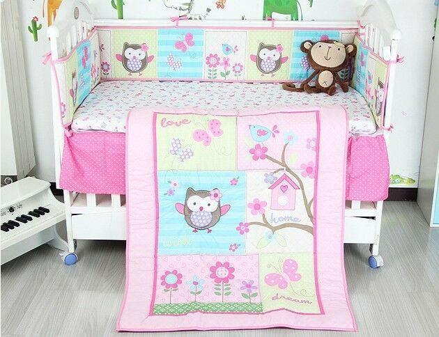 Baby Nursery 8p Crib Bedding Set Lovely Owl Amp Butterfly