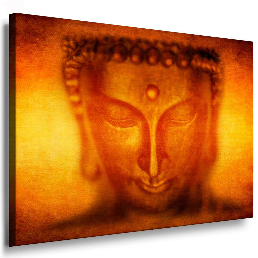 leinwand bild buddha gold bilder mit keilrahmen leinwandbilder kunstdrucke ebay. Black Bedroom Furniture Sets. Home Design Ideas