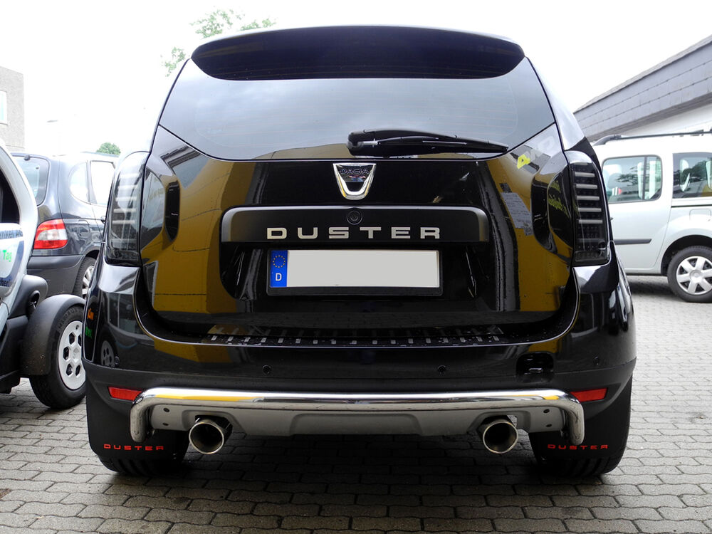 exhaust mufflers duplex 90mm dacia duster 4x4 diesel sport exhaust ebay. Black Bedroom Furniture Sets. Home Design Ideas