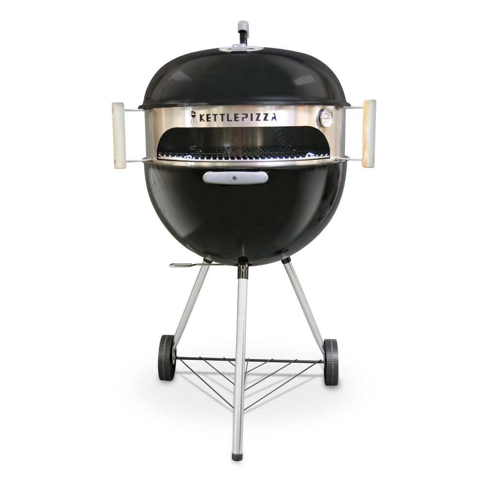 kettlepizza basic wood fired pizza oven kit for 18 5 and 22 5 inch grill ebay. Black Bedroom Furniture Sets. Home Design Ideas