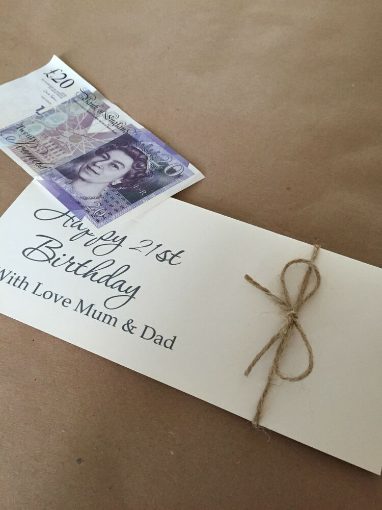 Personalised vintage/retro birthday, christening wedding Money ...