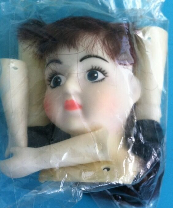 Vintage Plastic Doll Head With Parts Make Your Own Doll