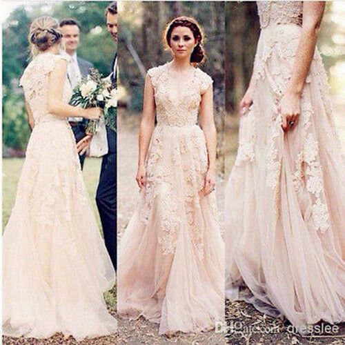 Cap Sleeve Bridal Gowns: Vintage Lace Wedding Dresses Cap Sleeve Bridal Gowns