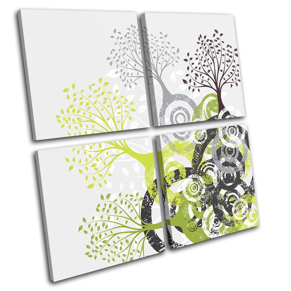 Wall Art Multi Canvas : Abstract tree illustration multi canvas wall art picture