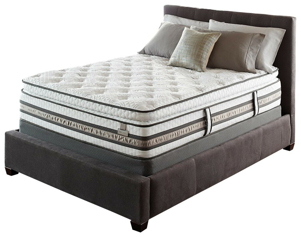 Serta iseries merit super pillow top king mattress hybrid gel ebay Mattress king