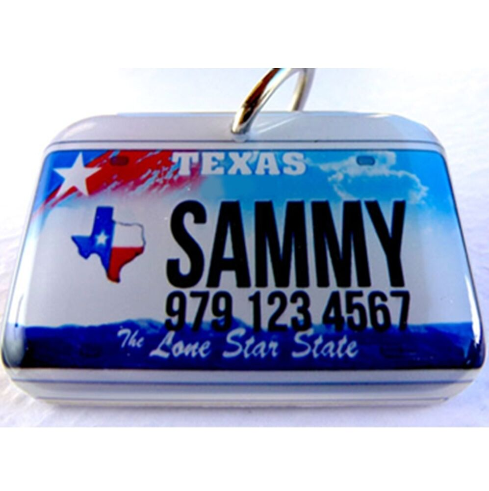 Texas Novelty State Car License Plate Dog Cat Custom Tag