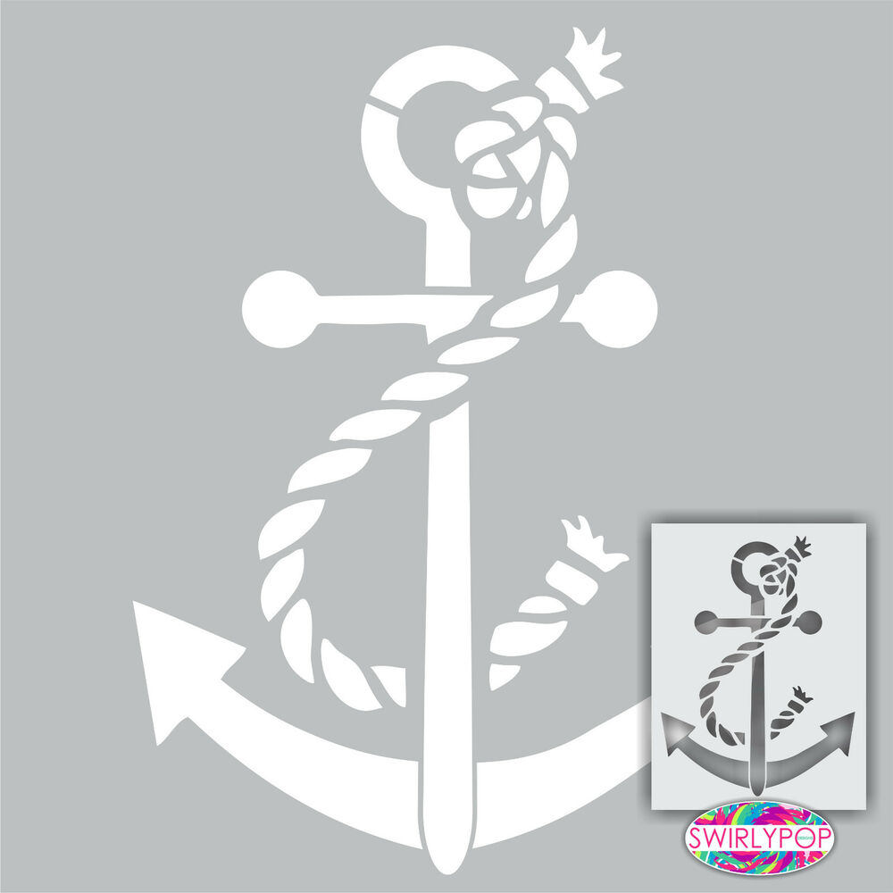 Soft image within printable anchor stencil