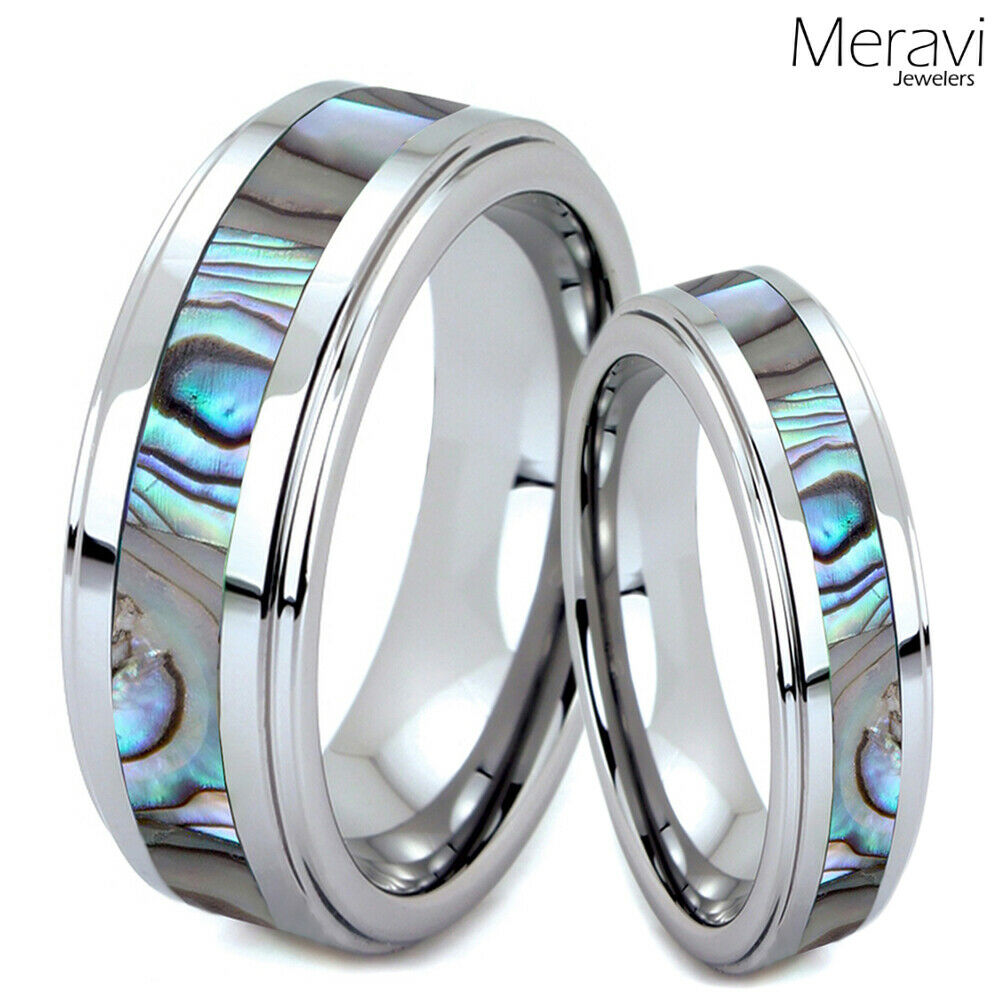 man wedding ring his hers tungsten carbide men silver wedding band promise 5688
