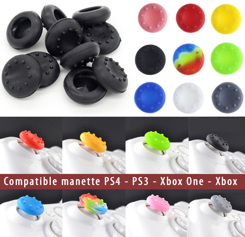 protection silicone pour bouton thumb stick joystick manette playstation ps4 ps3 ebay. Black Bedroom Furniture Sets. Home Design Ideas
