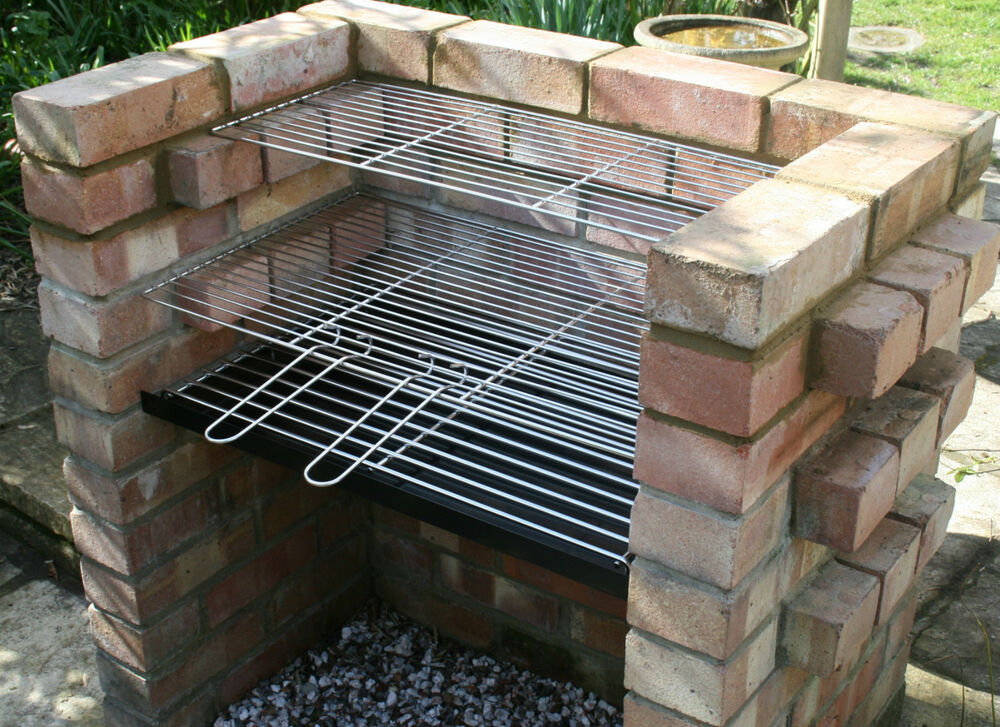 Charcoal Diy Brick Bbq Kit With Stainless Grill