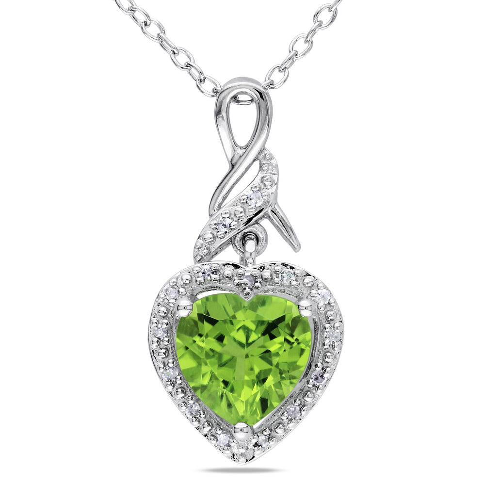 sterling silver 1 73 ct tw peridot