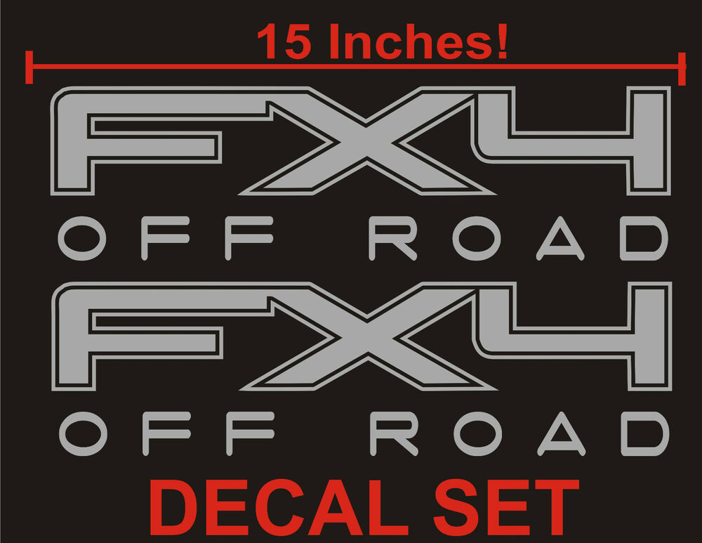 4x4 truck bed decals silver set for ford f 150 and. Black Bedroom Furniture Sets. Home Design Ideas