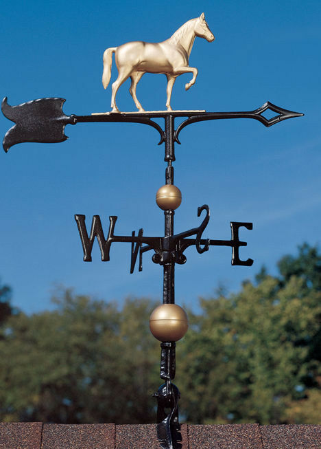 "30"" Race Horse Weathervane w/Arrow-3D equestrine Pony wind ..."