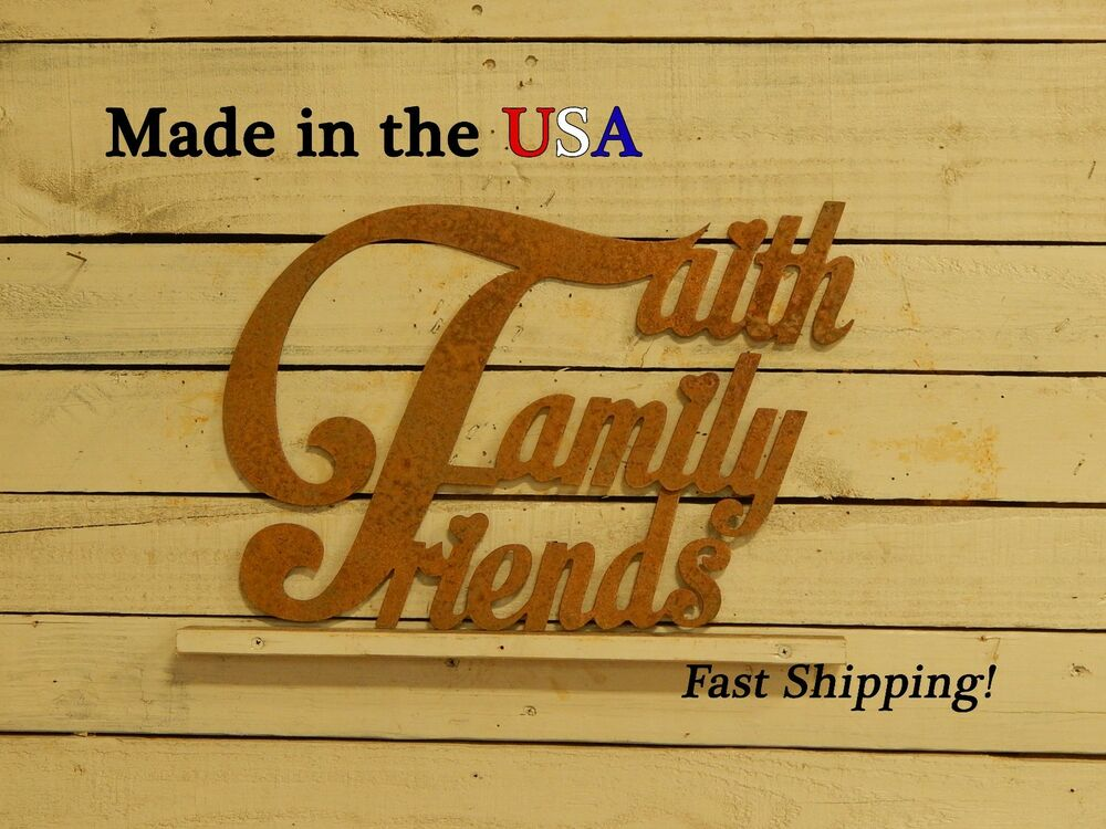 Faith Family Friends Metal Sign Home Decor Photo Decor