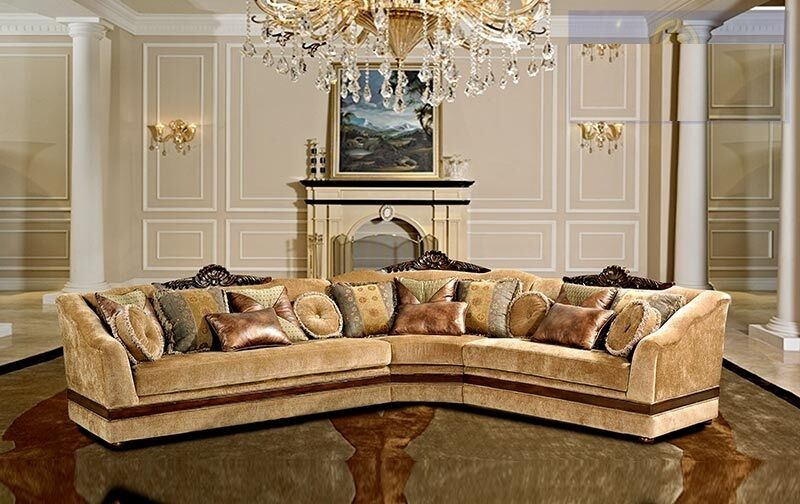 formal luxury antique sectional sofa 3 pc traditional
