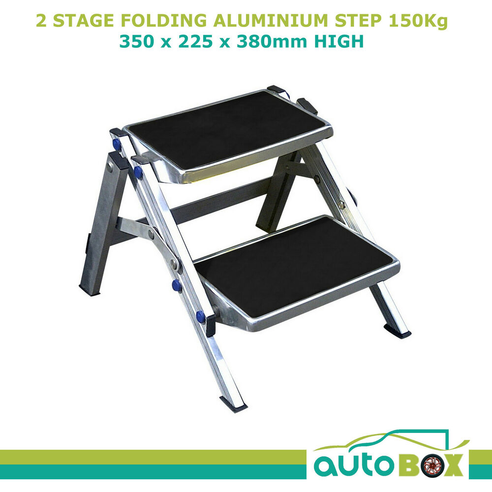 Caravan 2 Stage Folding Aluminium Step Suits Offroad