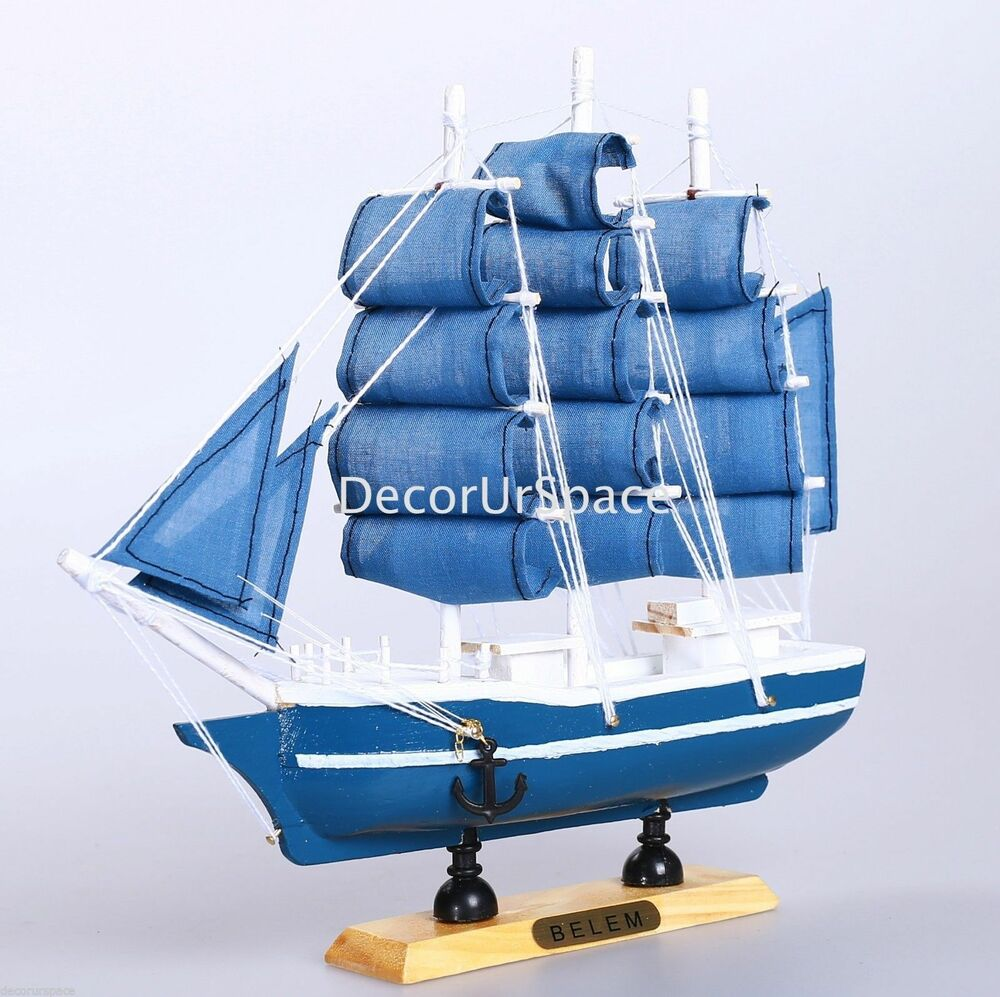 9 wooden sailing boat home decoration sailboat table for Decoration yacht