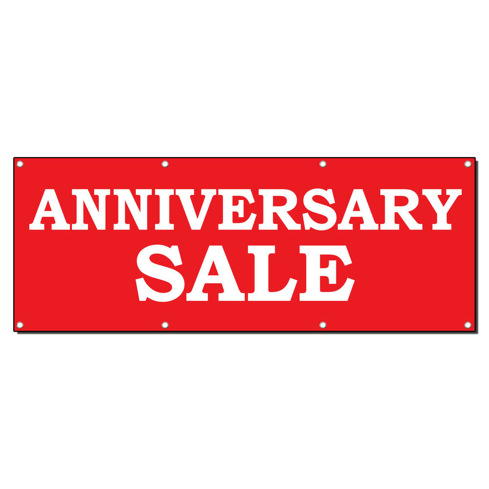 Anniversary sale banner sign w grommets ebay