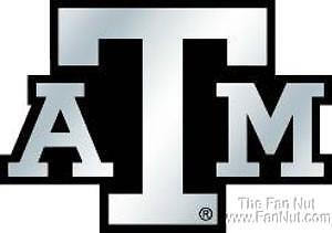 Texas a m aggies silver chrome color auto emblem decal for Aggie coloring pages