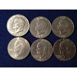 1971 1972 1974 1976 1977 1978 Eisenhower Known as the ''IKE SILVER DOLLAR'' Coins