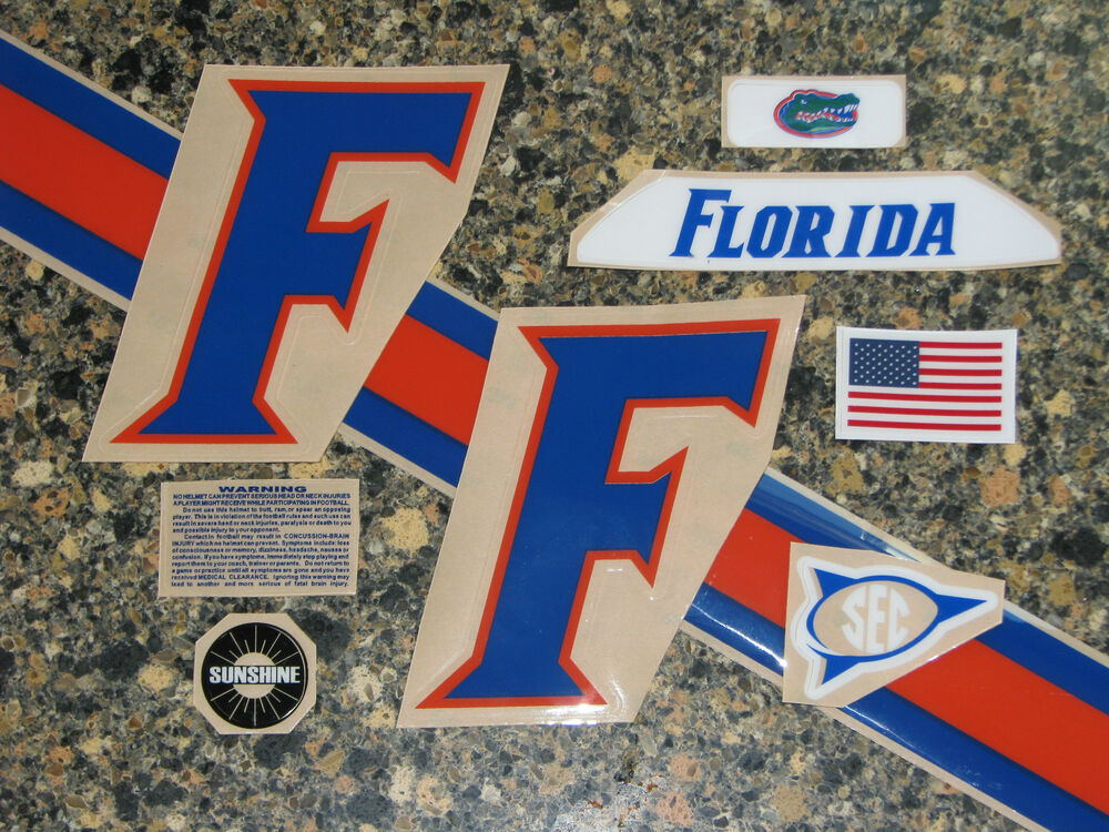 Florida Gator Stickers : Florida gators football helmet decals various versions