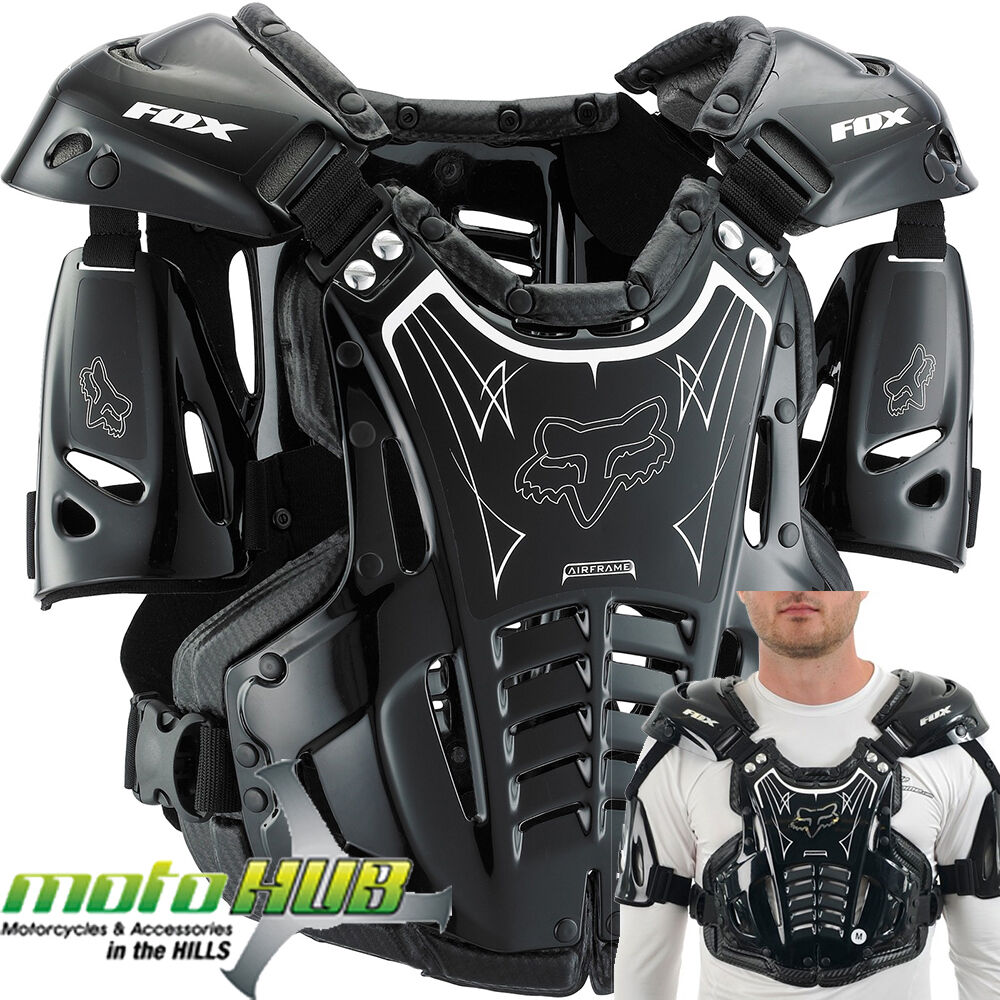 Fox Airframe Black Mx Protective Dirt Bike Wear Gear Body