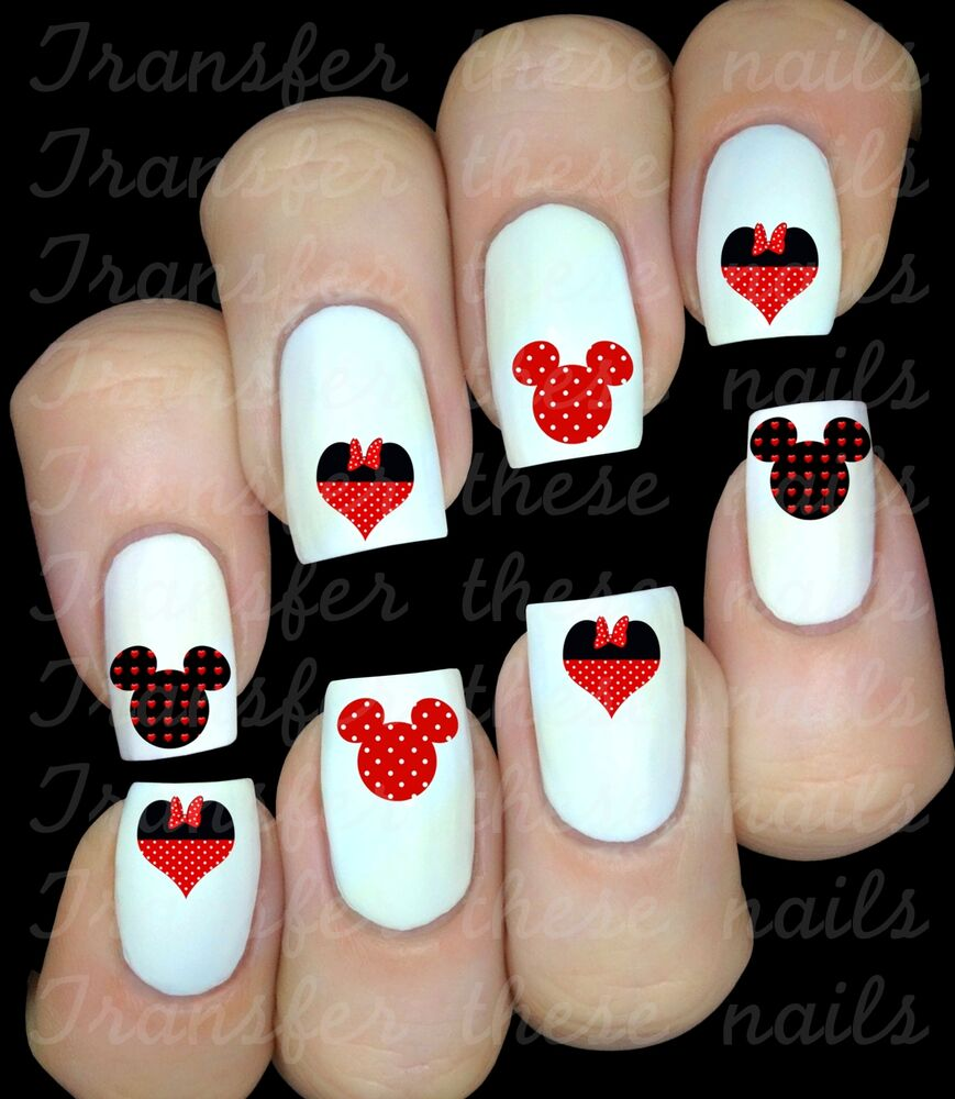 Mickey Mouse Nails: 30 MINNIE MICKEY MOUSE NAIL ART DECALS STICKERS WATER
