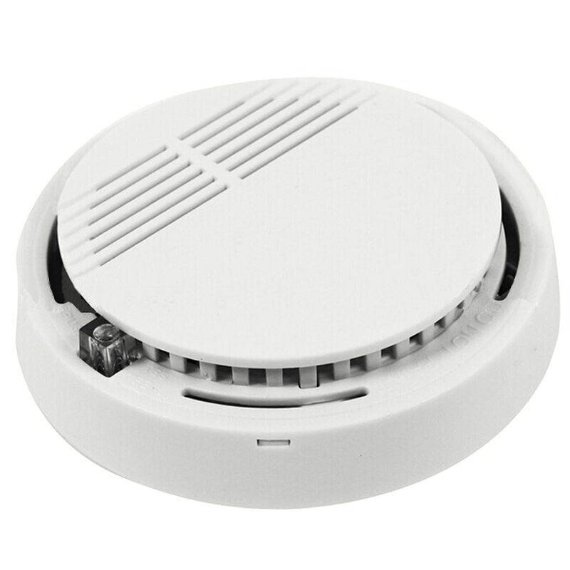wireless home security smoke detector fire alarm sensor system cordless white ebay. Black Bedroom Furniture Sets. Home Design Ideas