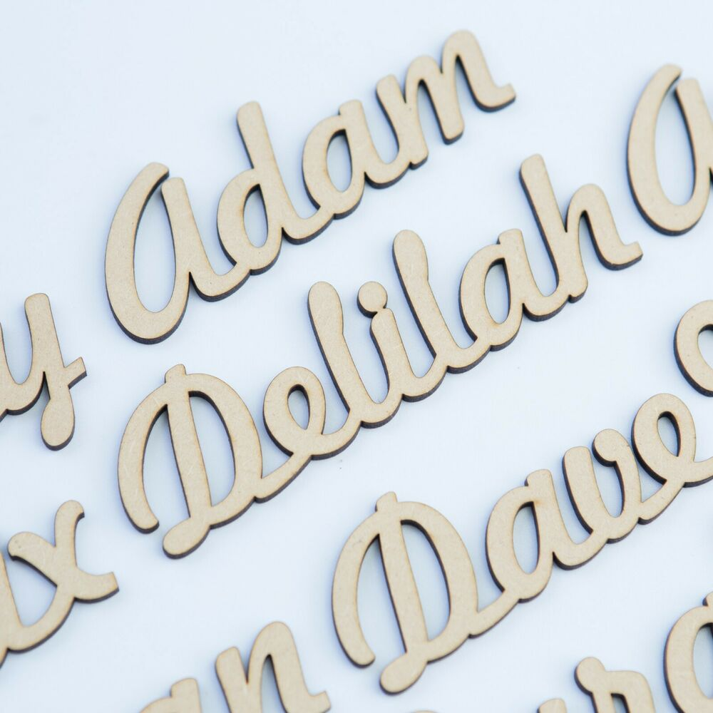 25mm script font names letters or words custom