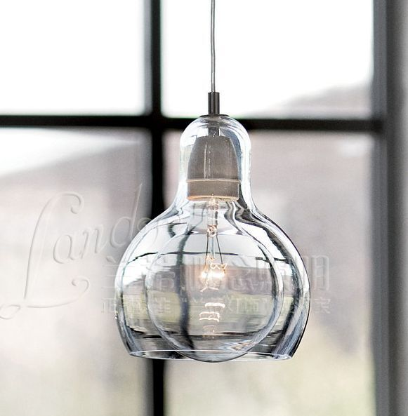 Retro cafe bar diy ceiling lamp glass pendant lighting for Diy edison light fixtures