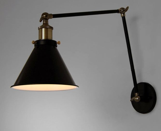 antique flexible arm industrial wall lamp metal cover lighting bedroom gift ebay. Black Bedroom Furniture Sets. Home Design Ideas