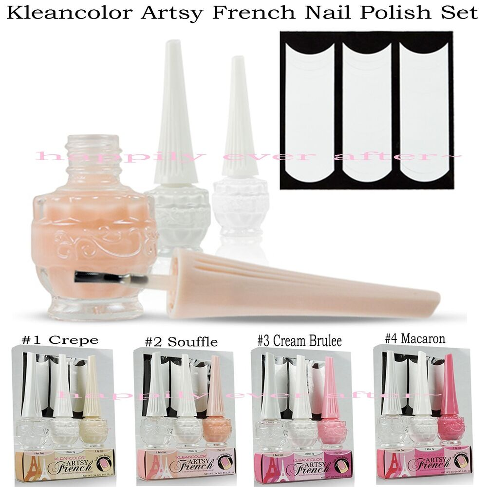 Kleancolor French Tip Nail Polish Sets- French Manicure