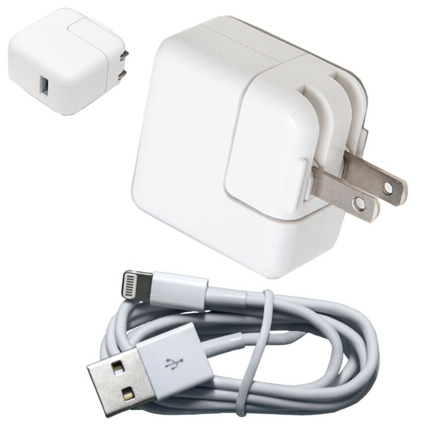 12W USB 2.4 Amp Wall Charger + 8 Pin Cable for Apple iPad Mini Air iPhone 6 6+ | eBay