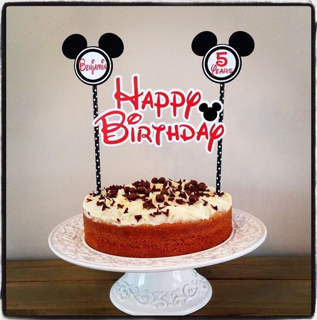 ... MOUSE CAKE BUNTING Banner Topper Decoration Birthday Party  eBay