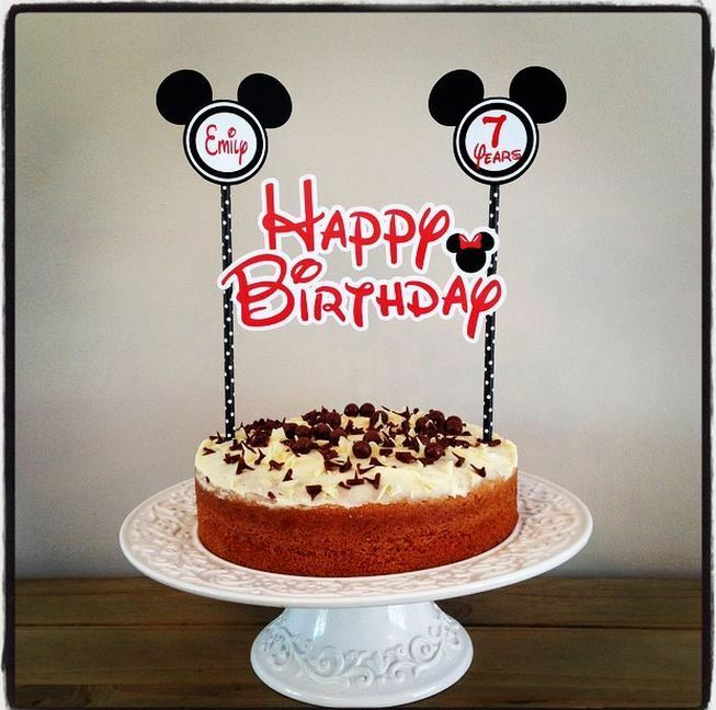 PERSONALISED MINNIE MOUSE CAKE BUNTING Banner Topper ...
